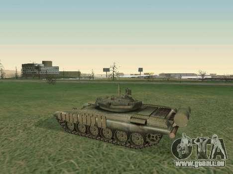 Réservoir T-72B pour GTA San Andreas vue arrière