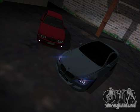 BMW 5-series E39 Vossen pour GTA San Andreas salon