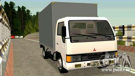 Mitsubishi Fuso Canter 1989 Aluminium Van pour GTA San Andreas vue arrière