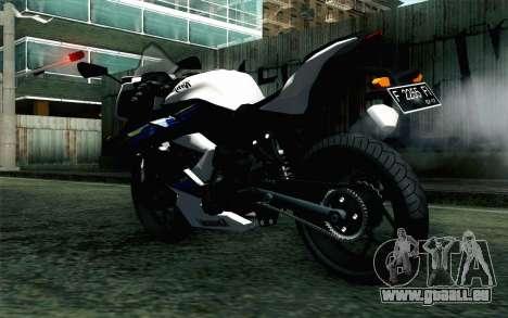 Kawasaki Ninja 250RR Mono White für GTA San Andreas linke Ansicht