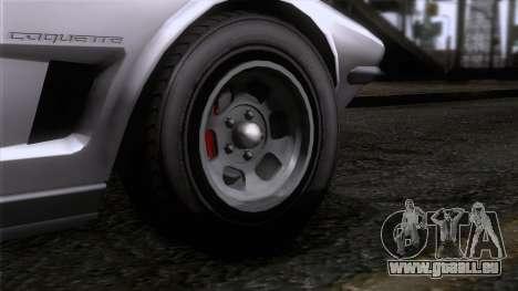 GTA 5 Invetero Coquette Classic TL SA Mobile pour GTA San Andreas sur la vue arrière gauche