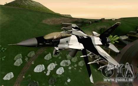 F-16C Fighting Falcon Aggressor Alaska BlackGrey für GTA San Andreas