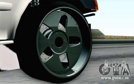 Toyota Chaser pour GTA San Andreas sur la vue arrière gauche