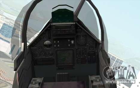 Dassault Mirage 2000 ISAF pour GTA San Andreas vue de droite