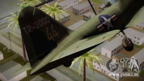 ИЛ-10 United States Air Force für GTA San Andreas zurück linke Ansicht