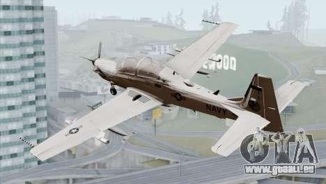 Embraer A-29B Super Tucano Navy White für GTA San Andreas linke Ansicht