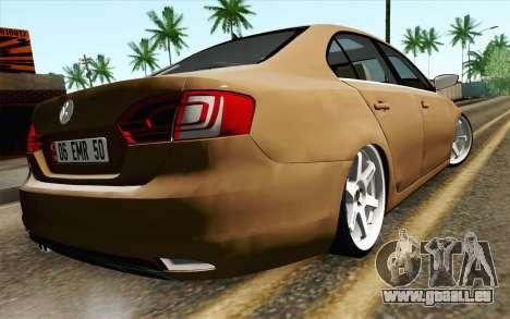 Volkswagen Jetta Air pour GTA San Andreas laissé vue