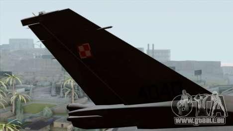 F-16C Block 52 PJ für GTA San Andreas zurück linke Ansicht