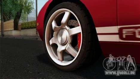 Ford GT FM3 Rims für GTA San Andreas zurück linke Ansicht