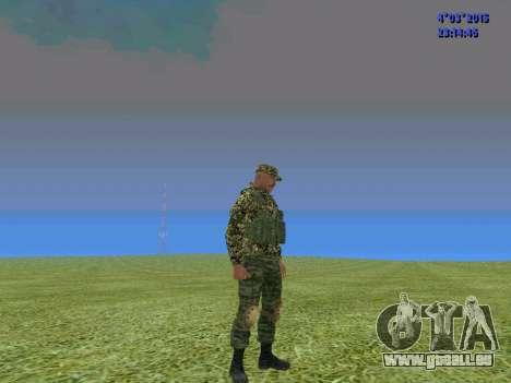 Soldat du bataillon de la Somalie pour GTA San Andreas troisième écran