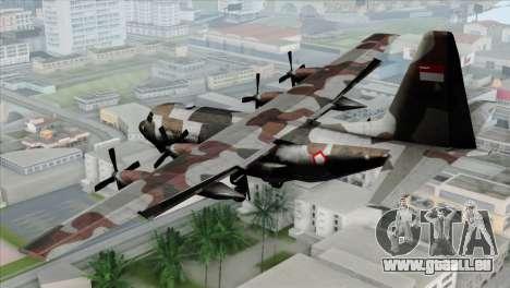 C-130B Indonesian Air Force (TNI AU) pour GTA San Andreas laissé vue