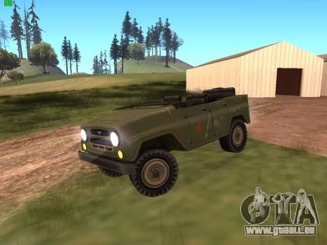 UAZ militaire pour GTA San Andreas