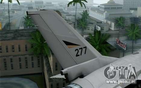 F-16 Fighting Falcon RNoAF pour GTA San Andreas sur la vue arrière gauche
