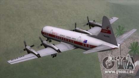 L-188 Electra Qantas für GTA San Andreas linke Ansicht