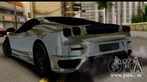Ferrari F430 Chrome pour GTA San Andreas laissé vue