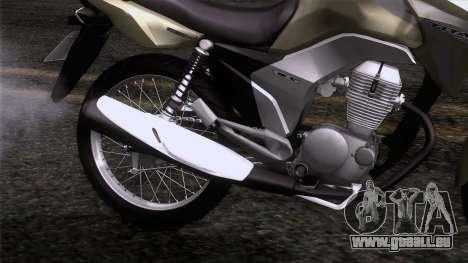 Honda CG Titan 150 2014 für GTA San Andreas Rückansicht