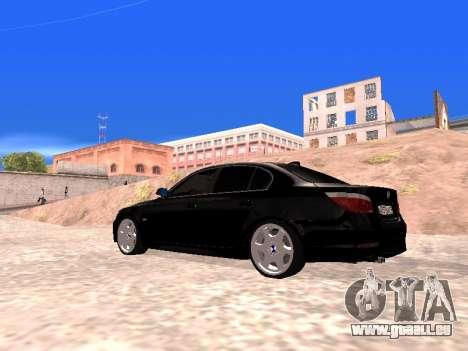 BMW 525i (e60) pour GTA San Andreas laissé vue