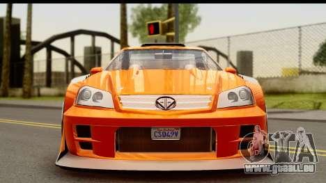 GTA 5 Benefactor Feltzer für GTA San Andreas zurück linke Ansicht