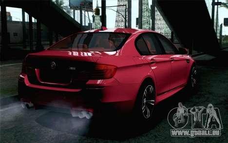 BMW M5 F10 2012 Stock pour GTA San Andreas laissé vue