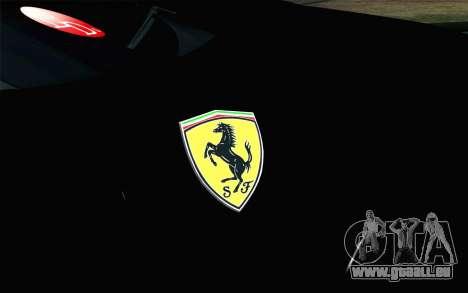 Ferrari F12 Berlinetta pour GTA San Andreas vue arrière