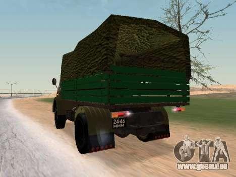 MAZ 503 pour GTA San Andreas sur la vue arrière gauche