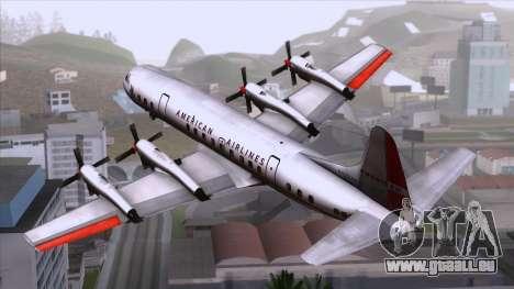 L-188 Electra American Als pour GTA San Andreas laissé vue
