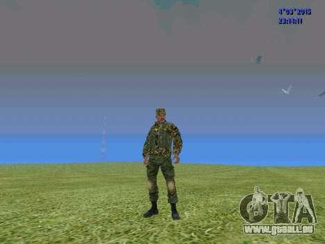 Soldat du bataillon de la Somalie pour GTA San Andreas deuxième écran