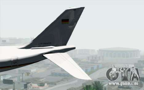 Airbus A340-300 Luftwaffe Konrad Adenauer für GTA San Andreas zurück linke Ansicht