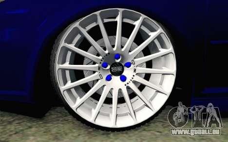 Volkswagen Golf Mk4 R32 Stance v2.0 pour GTA San Andreas sur la vue arrière gauche