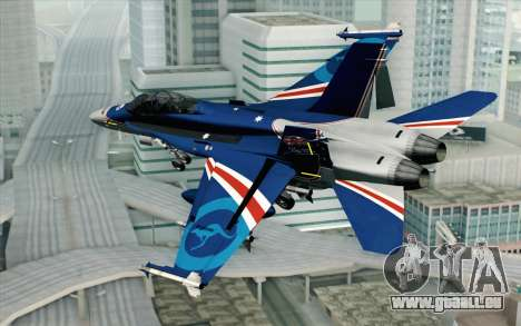 F-18D RAAF 20th Anniversary pour GTA San Andreas laissé vue