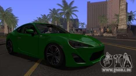 Scion FR-S 2013 Stock v2.0 für GTA San Andreas Rückansicht