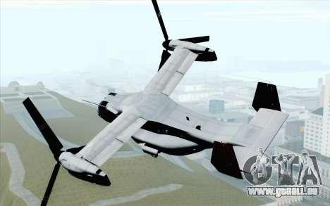 MV-22 Osprey VMM-265 Dragons pour GTA San Andreas laissé vue