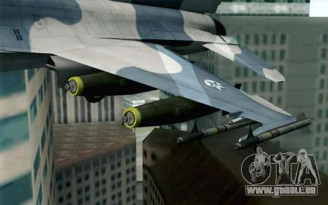 F-16 Osean Air Defense Force für GTA San Andreas rechten Ansicht