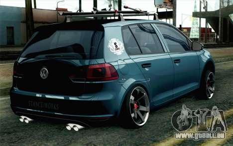 Volkswagen Golf pour GTA San Andreas laissé vue