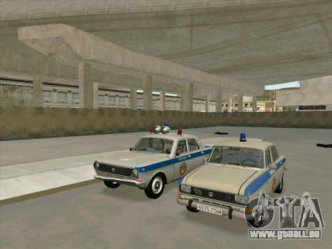 Moskvich 2140 Police pour GTA San Andreas sur la vue arrière gauche