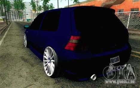 Volkswagen Golf Mk4 R32 Stance v2.0 pour GTA San Andreas laissé vue