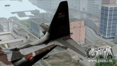 C-130B Indonesian Air Force (TNI AU) für GTA San Andreas zurück linke Ansicht