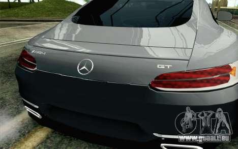 Mercedes-Benz AMG GT 2015 für GTA San Andreas Rückansicht