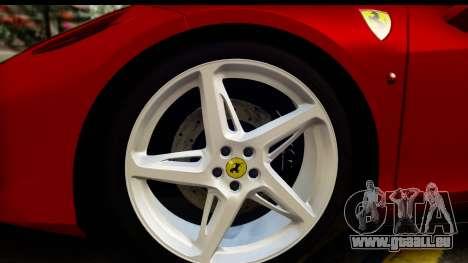 Ferrari 458 Italia pour GTA San Andreas vue arrière
