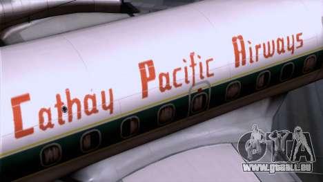 L-188 Electra Cathay P pour GTA San Andreas vue de droite