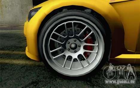 GTA 5 Ubermacht Sentinel Coupe für GTA San Andreas zurück linke Ansicht