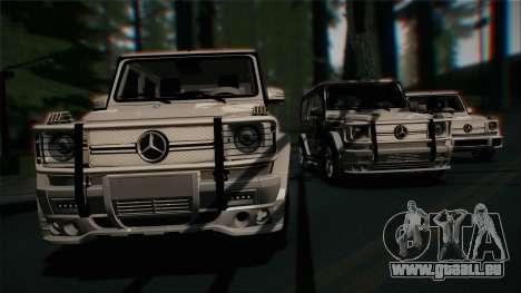 Mercedes-Benz G65 2013 Hamann Body pour GTA San Andreas vue de dessous
