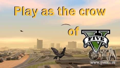 La possibilité de GTA V à jouer pour les oiseaux pour GTA San Andreas