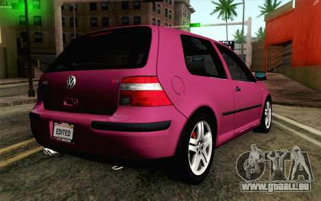 Volkswagen Golf v5 Stock pour GTA San Andreas laissé vue