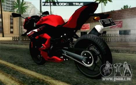 Kawasaki Ninja 250RR Mono Red für GTA San Andreas linke Ansicht
