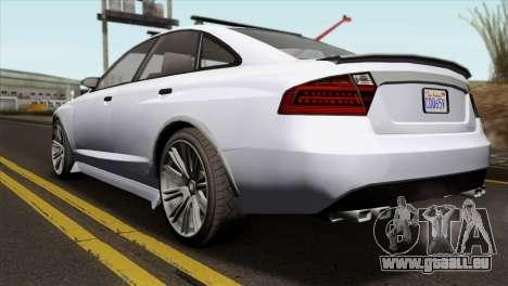 GTA 5 Obey Tailgater IVF für GTA San Andreas linke Ansicht