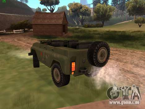 UAZ Militär für GTA San Andreas zurück linke Ansicht