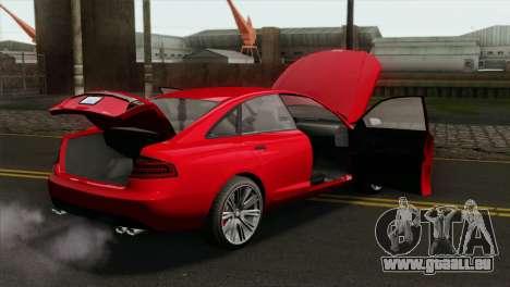 GTA 5 Obey Tailgater pour GTA San Andreas vue de droite
