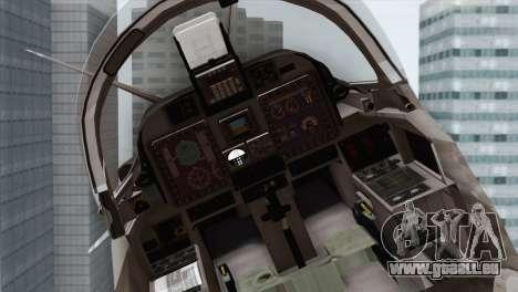 Embraer A-29B Super Tucano Navy White für GTA San Andreas Rückansicht