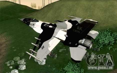 F-16C Fighting Falcon Aggressor Alaska BlackGrey für GTA San Andreas linke Ansicht